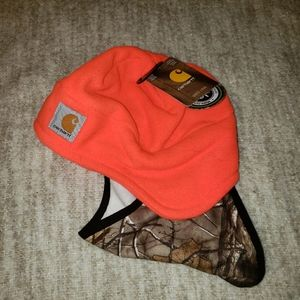 Carhartt Real Tree & orange winter hat / f…